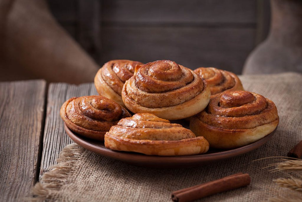 Sweet homemade cinnamon bun rolls made form whole wheat flour.