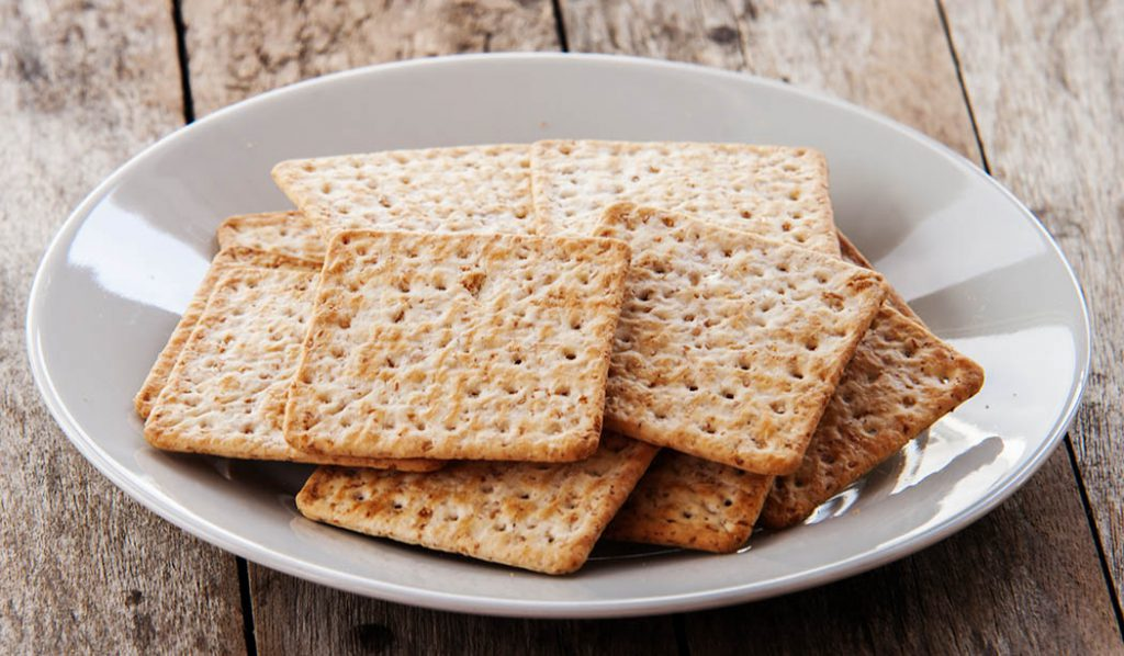 homemade whole wheat thin crackers.