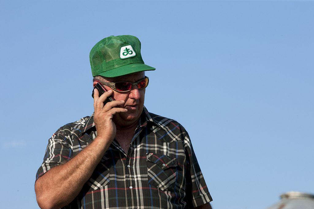 Farmer on the Phone
