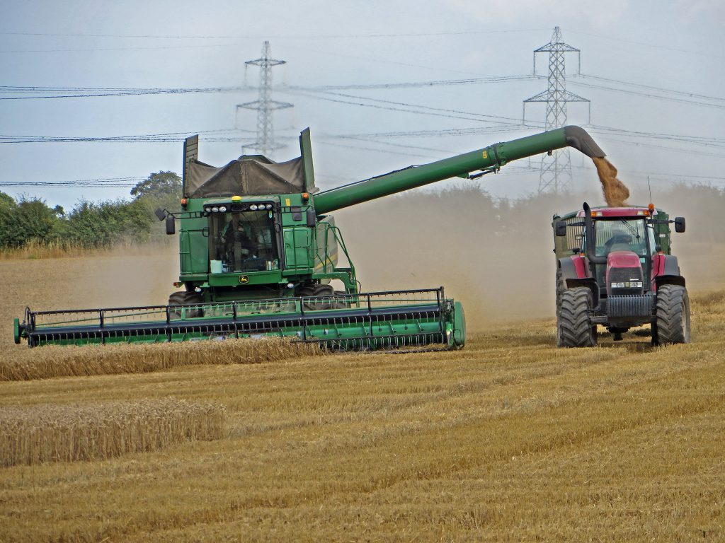 Combining near White Hart Farm