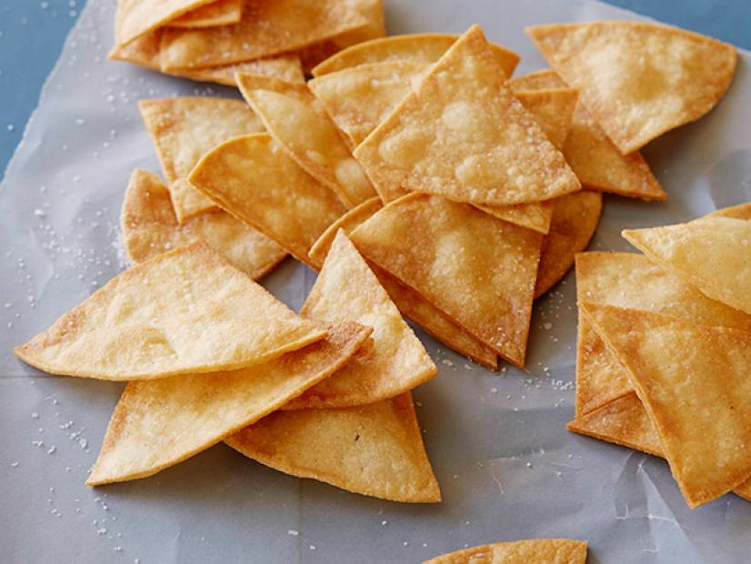 homemade whole wheat pita crisps.