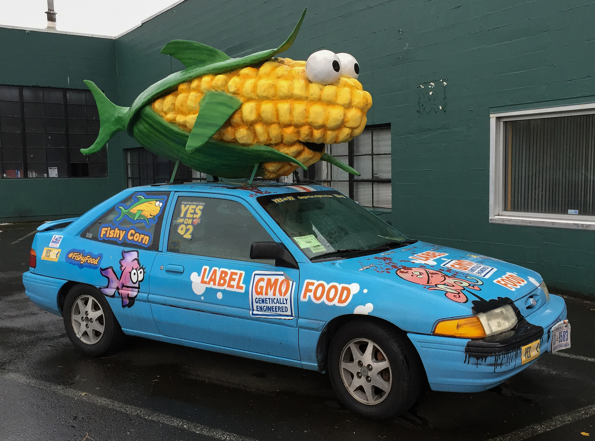 Label GMO Food car