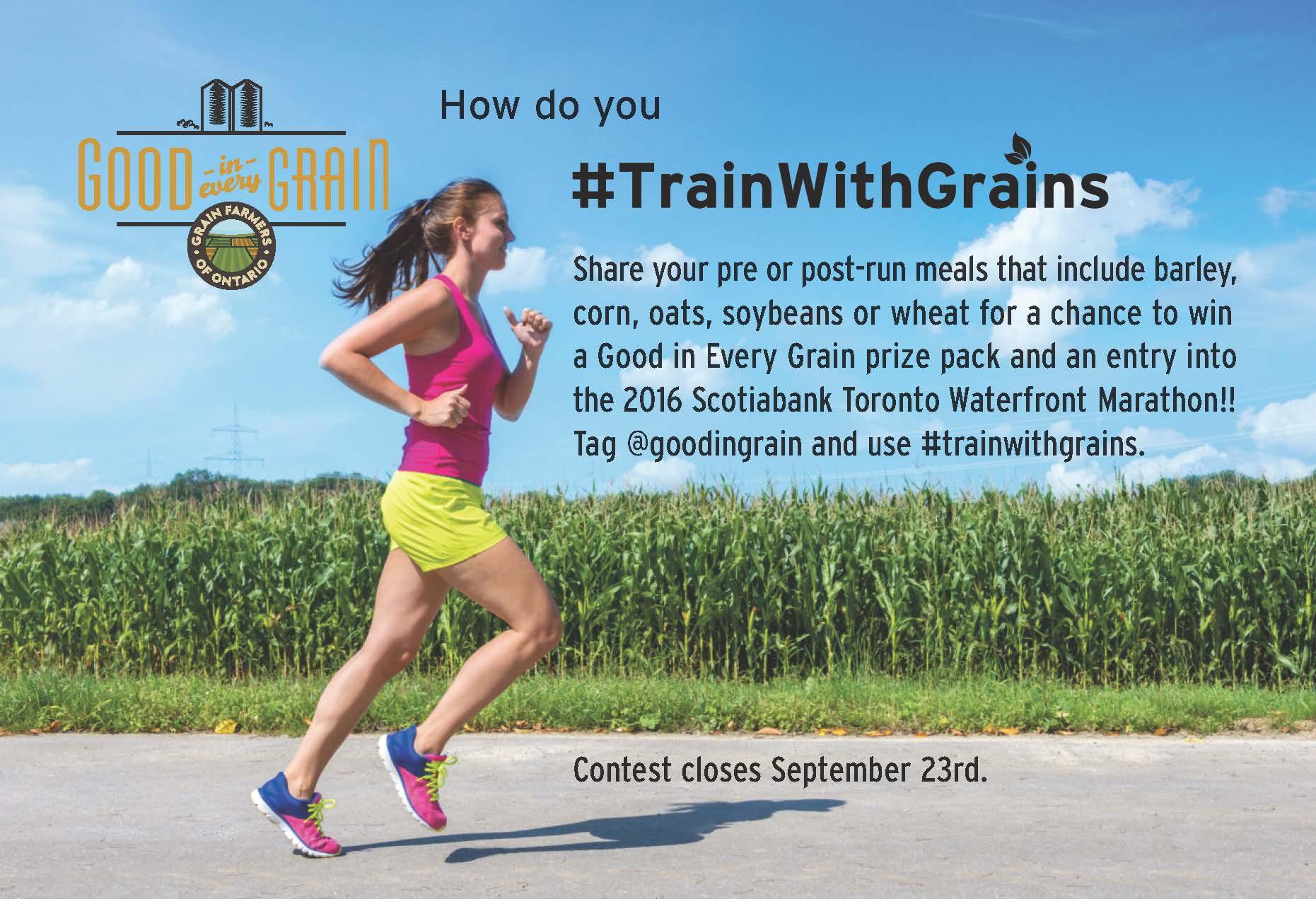 #TrainWithGrains contest