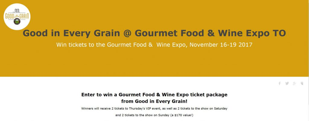 Gourmet food & wine expo contest