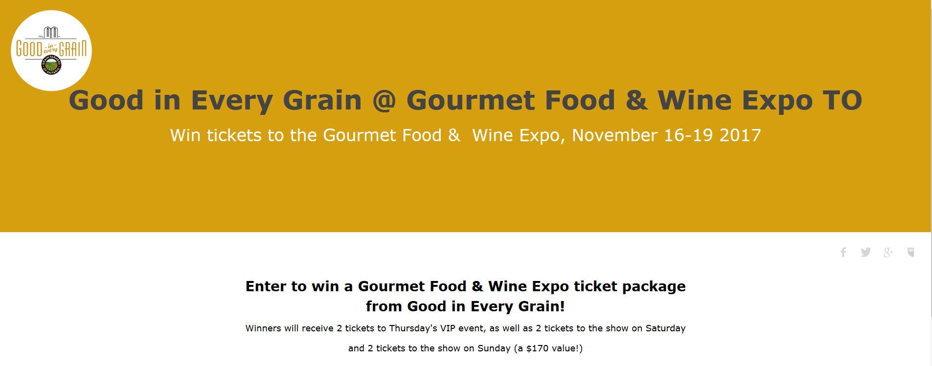 Gourmet food & wine expo contest