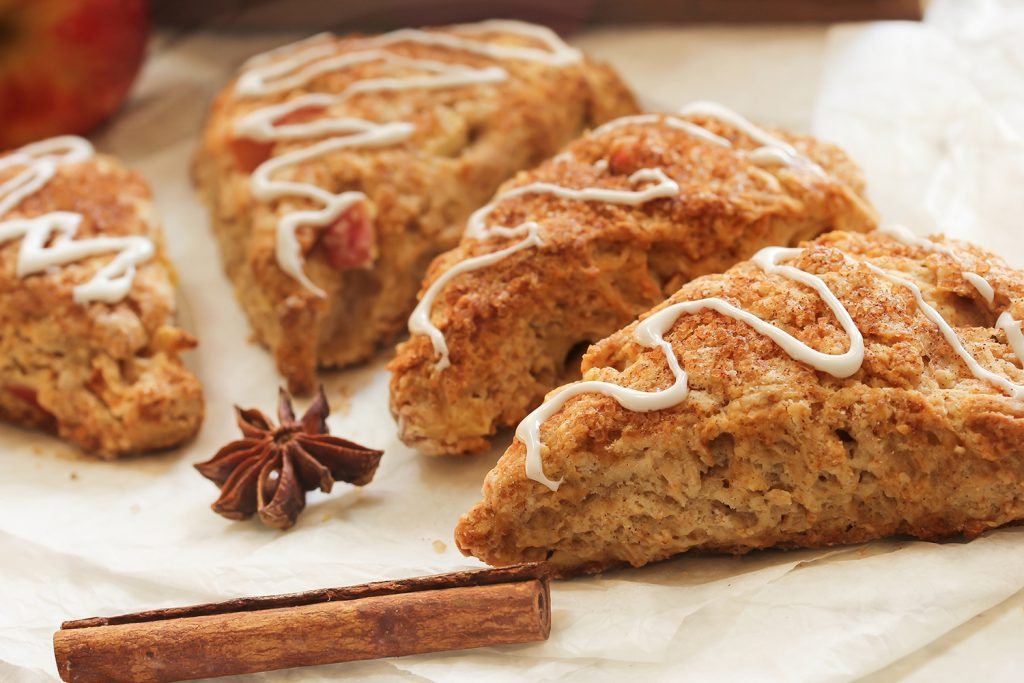 Apple toffee cornmeal scones