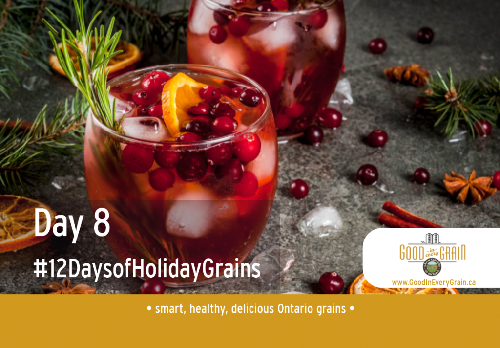 Day 8 of 12 Days of Holiday Grains Holiday Drink