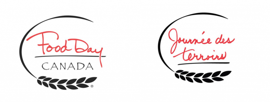 food day Canada celebration on august 1 logo French and English