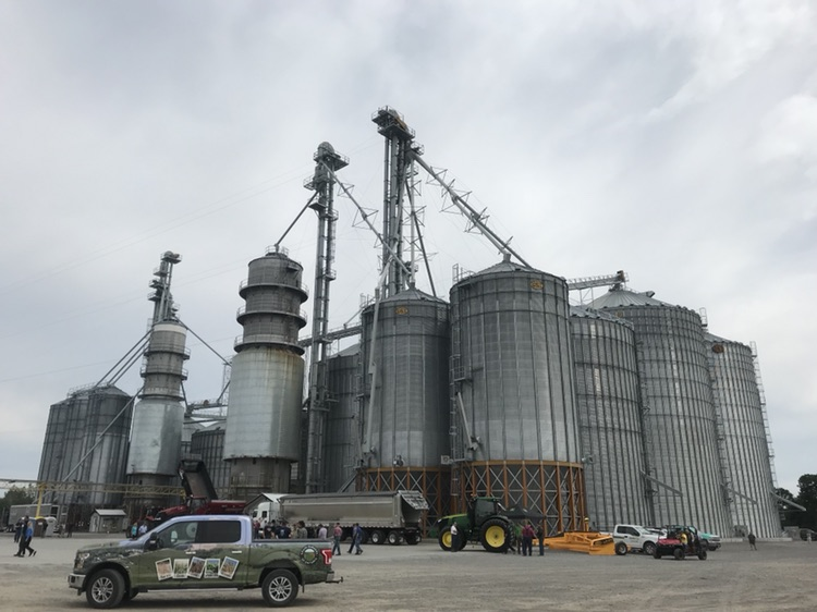 large grain elevator used for storing grain