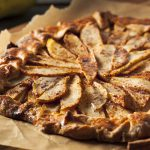 Homemade Autumn Pear Galette Pastry with Cinnamon Sugar