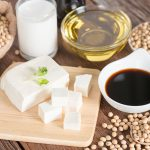 soybeans end products like tofu, soy oil, soy sauce, soy milk