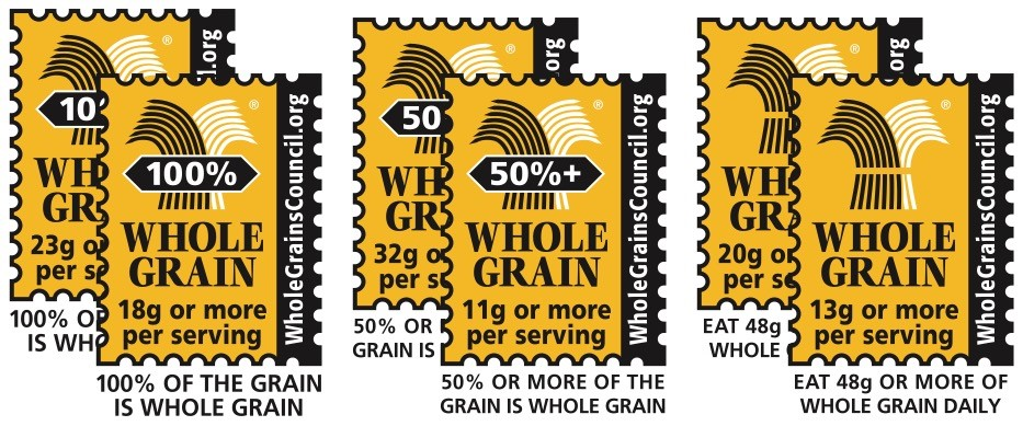 whole grain council labels and meanings.